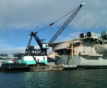 USS Abraham Lincoln Heavy Lifts