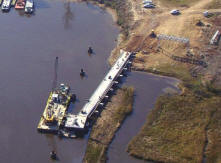 Private Oil Company Barge Dock